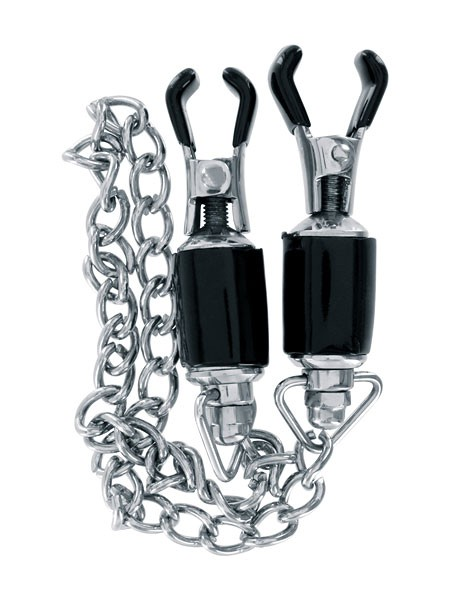 SinZ Vibes Steel Power Tools Nipple Clamps: Nippelklemmen mit Kette
