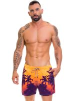 JOR Caribe: Bade-Short, orange/lila