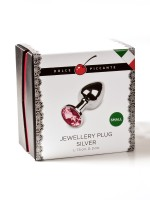 Dolce Piccante Jewellery Small: Edelstahl-Analplug, silber/pink
