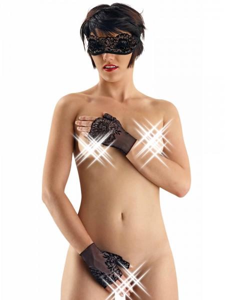 Eros Veneziani Adelia: Maske und Handschuhe, schwarz