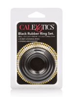 Rubber Ring Set: Penisringe-Set, schwarz