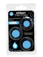 Triton Enhancement Rings: Penisringe-Set, schwarz