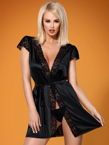 Obsessive 846: Kimono, schwarz