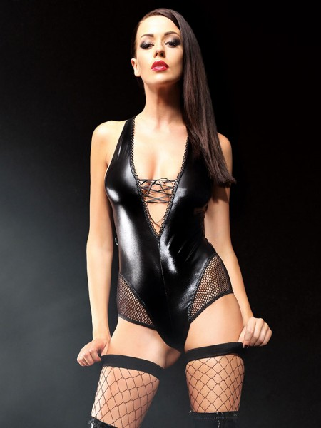 Demoniq Wetlook-Body: Claudia, schwarz