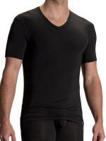Olaf Benz PEARL2101: V-Neck-Shirt, schwarz