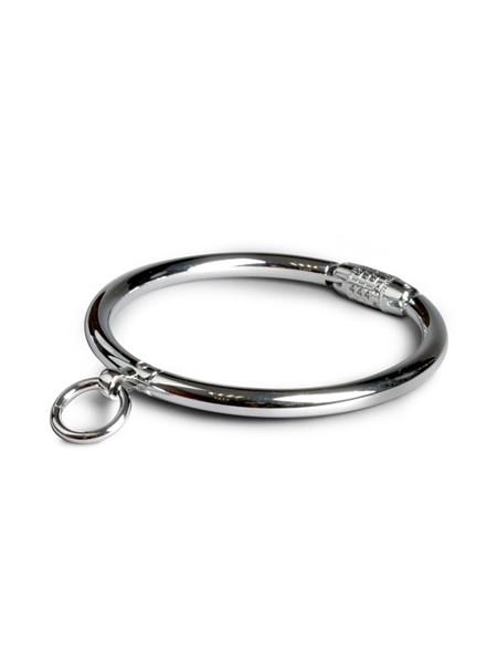 Black Label Stainless Steel Collar With Combination Lock: Verschliessbare Edelstahl-Halsfessel