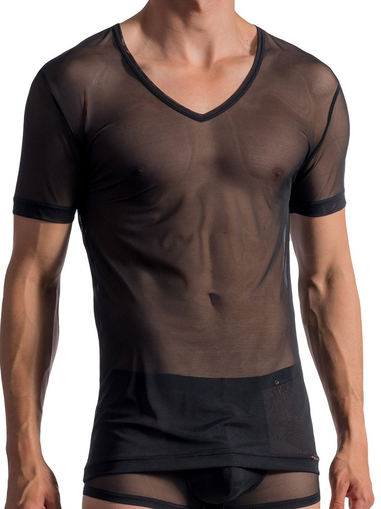 Olaf Benz RED1762: V-Neck-Shirt, schwarz