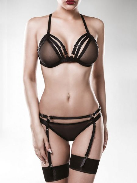 Grey Velvet 15123: Harness-Strapsset 2-teilig, schwarz