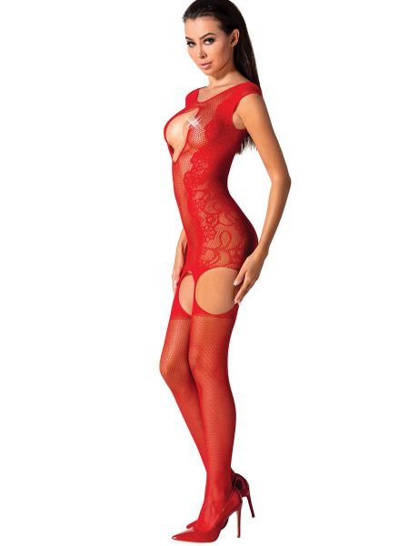 Passion BS082: Ouvert-Catsuit, rot