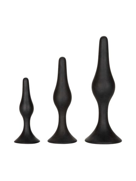 Silicone Anal Starter Kit: Analplug-Set, schwarz