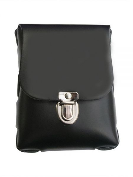 Black Label Leather Belt Bag Small: Leder-Handschellenetui, schwarz