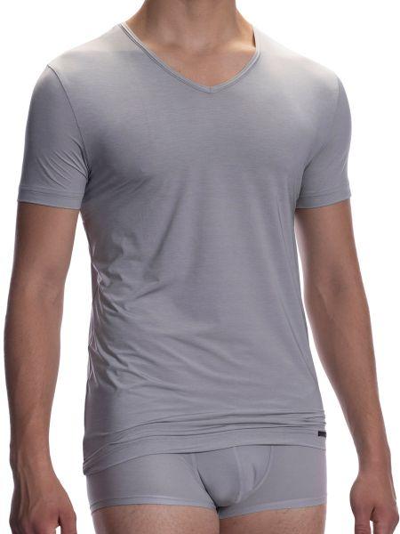 Olaf Benz RED1904: V-Neck-Shirt, silber