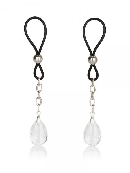 Nipple Jewelry Crystal: Nippelschlaufen, schwarz/transparent