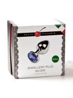 Dolce Piccante Jewellery Small: Edelstahl-Analplug, silber/blau