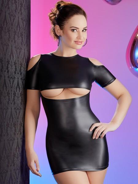 Minikleid mit Ausschnitten, schwarz