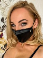 Noir Handmade: Maske Glitzerstein, schwarz