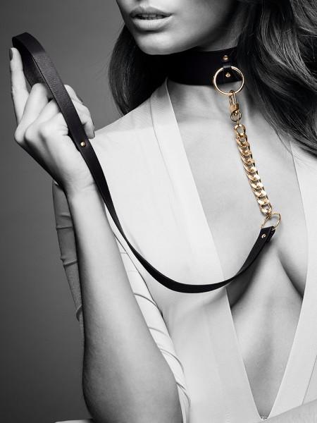 Bijoux Indiscrets Maze: Halsfessel mit Führleine, schwarz