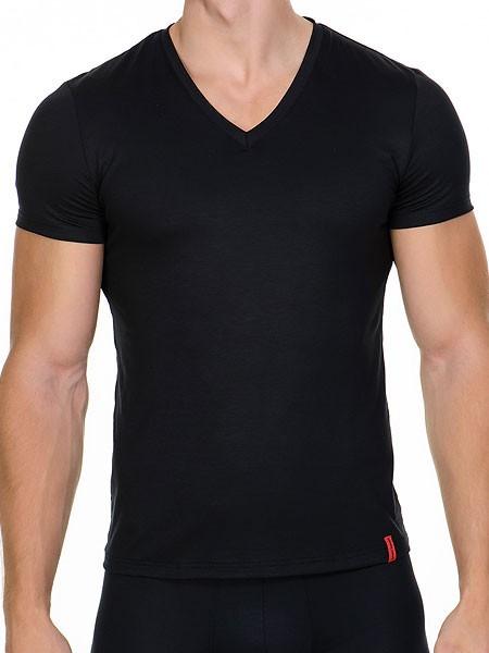 Bruno Banani Base Line: V-Shirt, schwarz