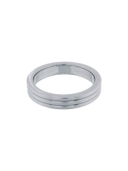 Steel Power Tools Ribbed: Edelstahl-Penisring (45mm)