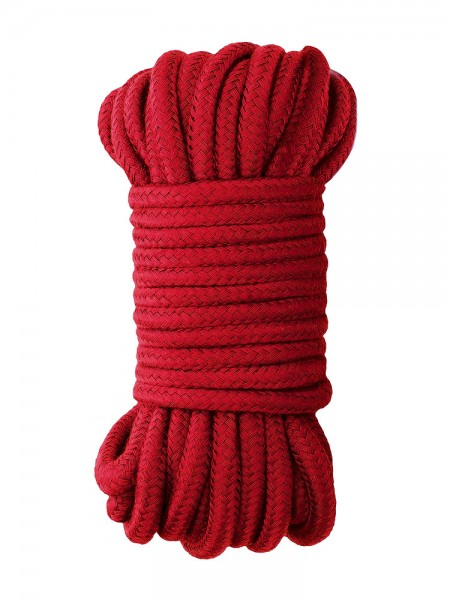 Ouch! Japanese Silk Rope: Bondageseil, rot (10m)