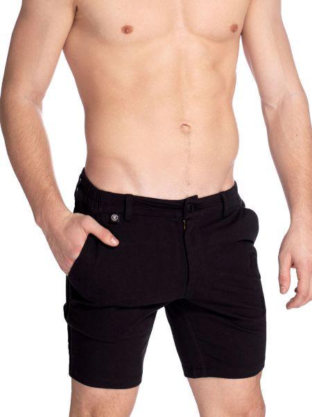 L'Homme Basel: Lounge Shorts, schwarz