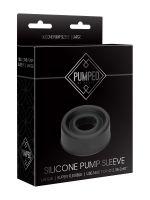 Pumped Silicone Pump Sleeve L: Penispumpen-Manschette, schwarz