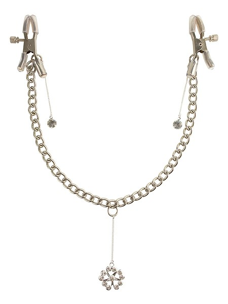 Fetish Fantasy Crystal Nipple Clamps, silber