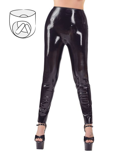 Latex-Sex-Leggings, schwarz