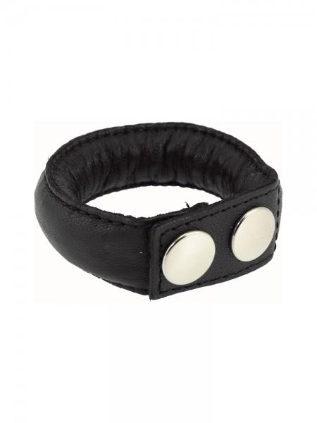 Leder-Penisriemen mit Gewicht (130g), schwarz