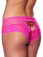 Spitzen-Panty mit Schnürung, pink