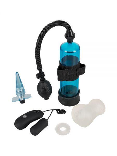 Powerbox Men's Kit: Toy-Set für Ihn, 4-teilig, blau/schwarz/transparent