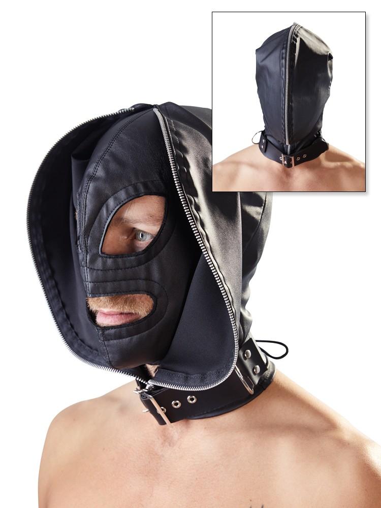Fetish collection Doppelmaske, schwarz