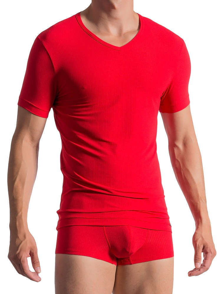 Olaf Benz RED1766: V-Neck-Shirt, mars