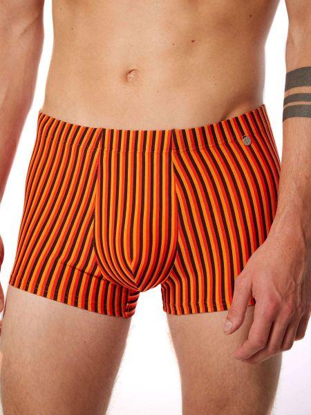 Bruno Banani Stripes Effects: Hipshort, orange/rot/schwarz