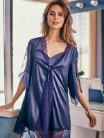Anabel Arto: Kimono, dunkelblau