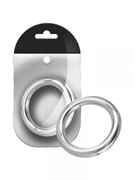 Black Label Stainless Steel Round Cock Ring 8 mm: Edelstahl-Penisring