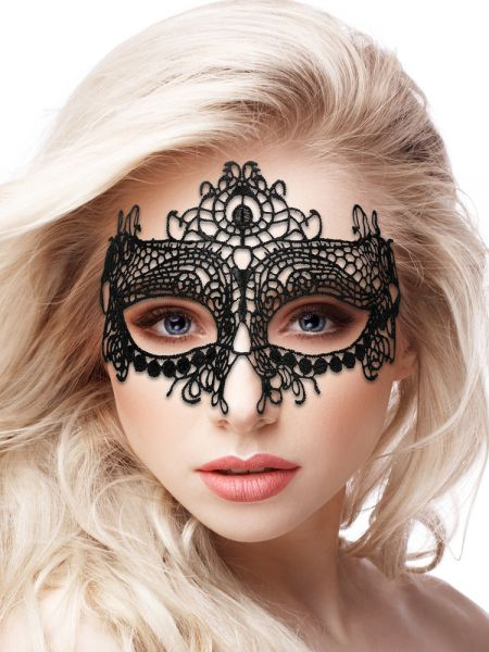 Ouch! Maske: Queen Black Lace, schwarz