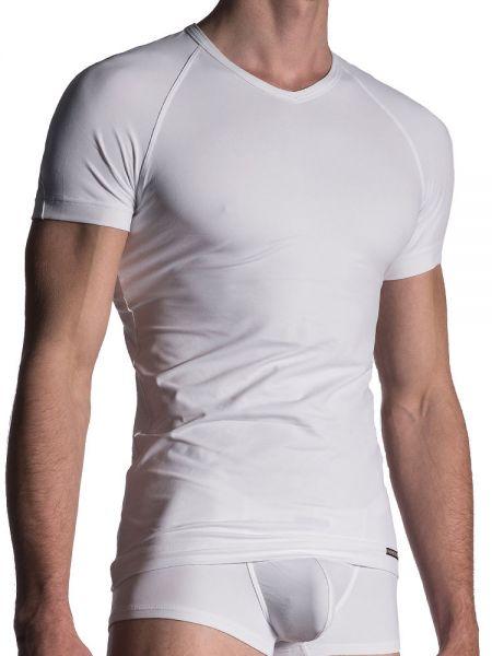 MANSTORE M800: V-Neck-Shirt, weiß