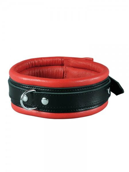 XxdreamSToys: Leder-Halsfessel, rot/schwarz