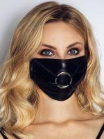 Noir Handmade: Maske mit O-Ring, schwarz