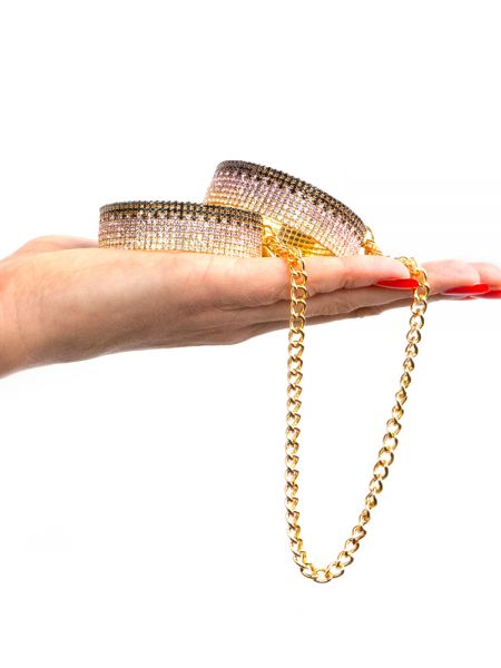 Rianne S Diamond Cuffs Liz: Handfesseln, gold