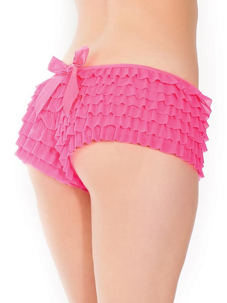 Coquette: Rüschen-Panty, pink (One Size)