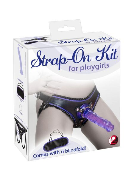 Strap-on Kit for Playgirls: Strap-On mit Dildo, lila/schwarz