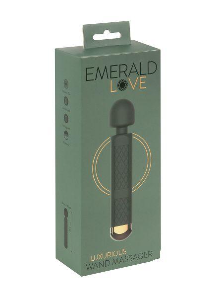 Emerald Love: Luxuriöser Wand-Massagestab, grün