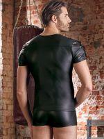 NEK: Mattlook-T-Shirt, schwarz