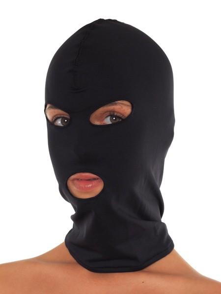 Kopfmaske mit Augen-/Mundöffnung, schwarz