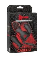 Kink Caged 2: Penismanschette mit Hodenring, Vibroei und Vibroplug, schwarz