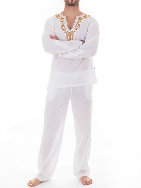 L'Homme Nightwear: Kassapa Pyjama, weiß