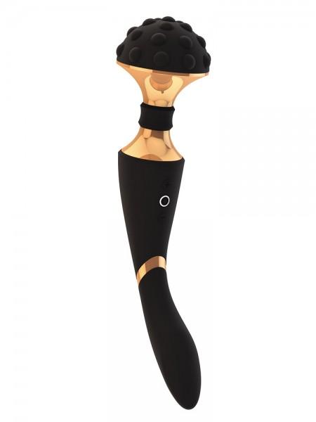 Vive Shiatsu: Wand-/G-Punkt-Vibrator, schwarz/gold