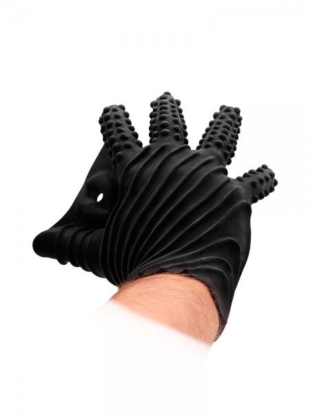 Fist It Silicone Glove: Masturbationshandschuh, schwarz